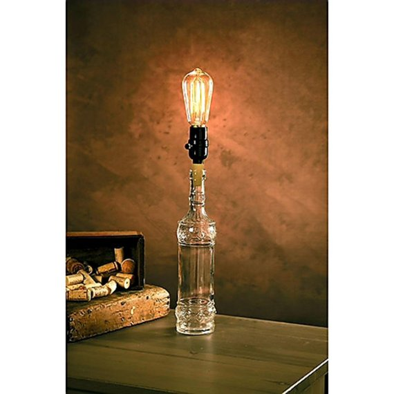 lamp made from glass bottle