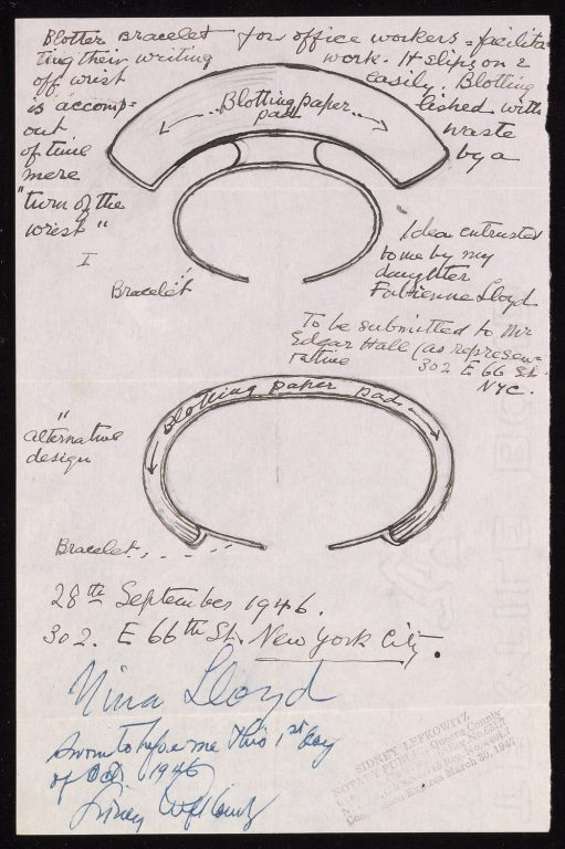 Loy's design for blotter bracelet