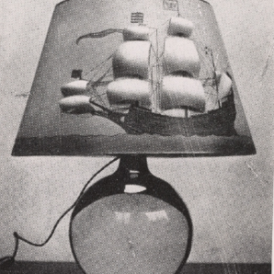 Loy's lamp with ship on shade