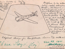 design for lampshade decorated with airplane